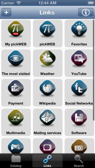 iPhone app web categories