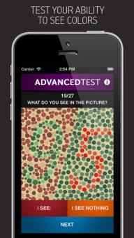 Color Vision Test iPhone app