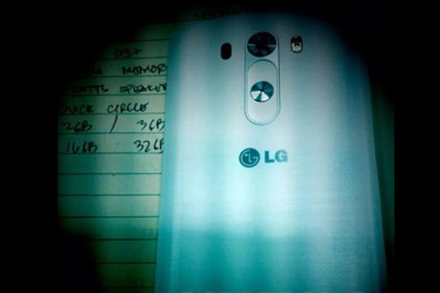 LG G3 Picture Leaked, About To Launch On May 27