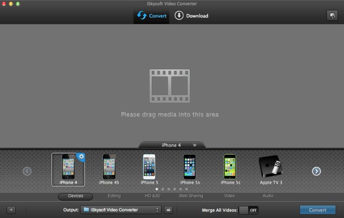 iSkysoft Video Converter for Mac App