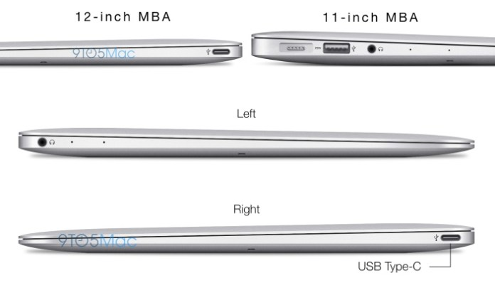 The 12-inch MacBook Air will be both thinner and narrower (less wide) than even the current 11-inch MBA.