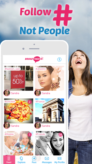 BroadTags social networking