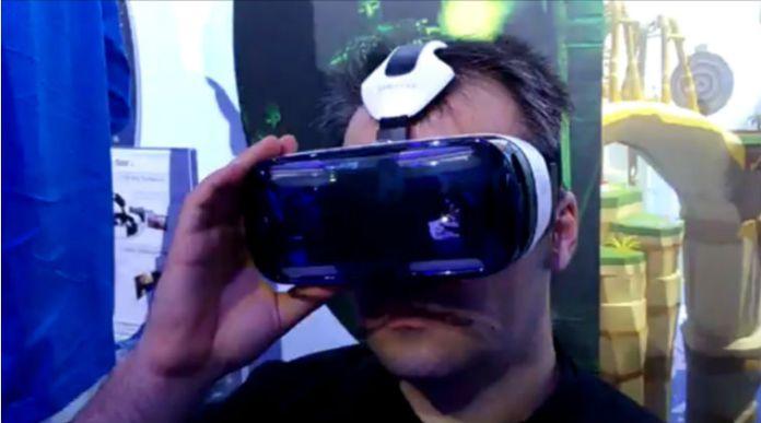 Samsung Gear VR in use