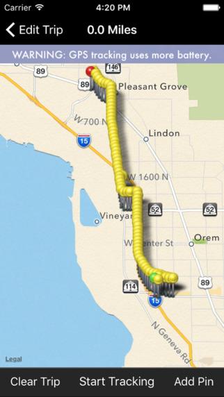 Milebug iOS app