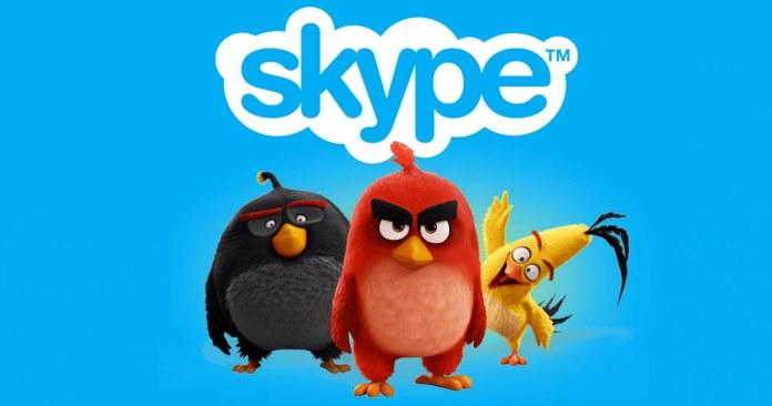 Angry Birds Movie Skype
