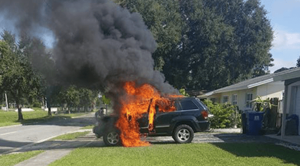 Galaxy Note 7 explosion causes family Jeep to catch fire