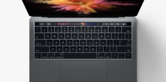 MacBook Pro Touch Bar playing DOOM