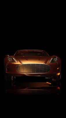 Golden Car Wallpapers for iPhone 7 in HD