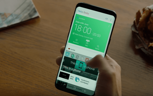 Image of Samsung's new personal assistant software 'Bixly'
