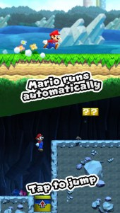 Super Mario Run's automatically on the game