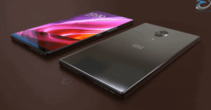 Leaked image of the rumoured design of the Xiaomi Mi Mix 2