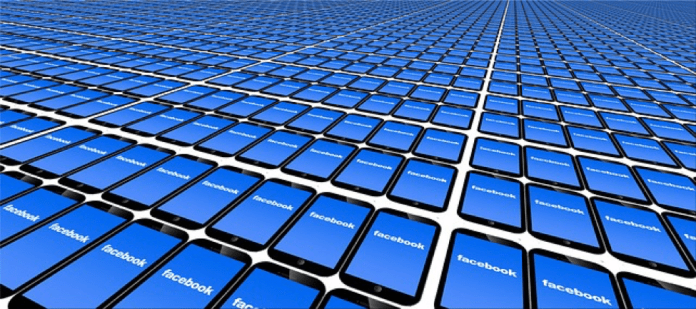 An Image of Facebook wallpaper on mobile phones
