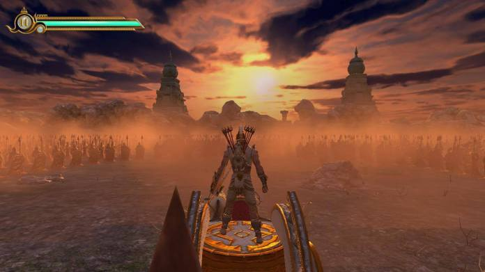 Screenshot of LoA - Legend of Abhimanyu being played