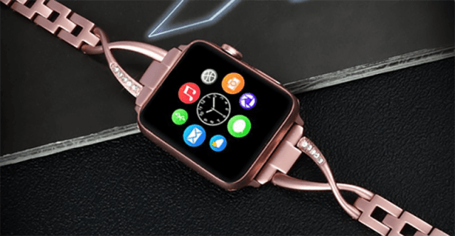 Lwsengme's Steel Rose Gold Wrist Band