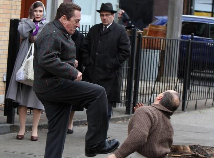 Robert De Niro during the shooting of The Irishman