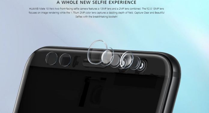 Huawei Mate 10 Lite selfie camera