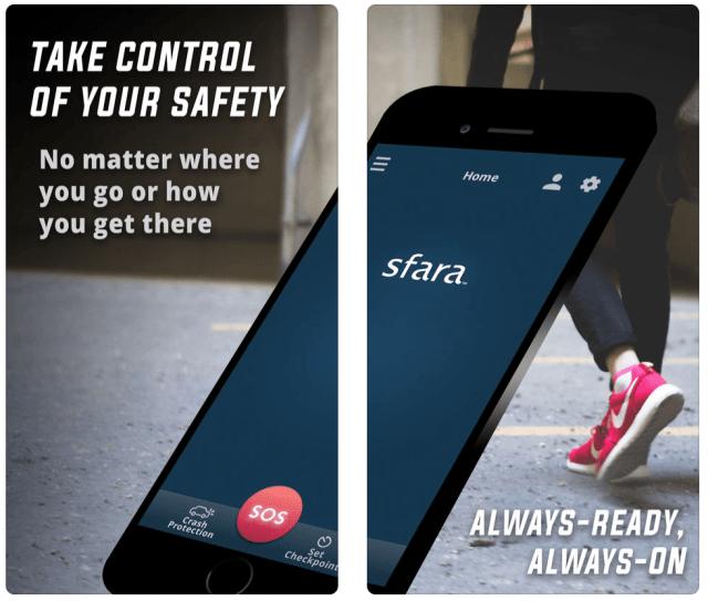 An image of the Sfara Guardian App.