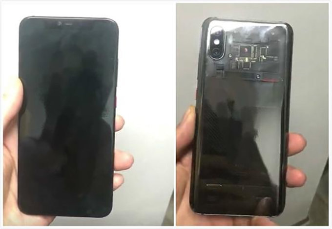 Leaked image of the Xiaomi Mi 8 with transparent back