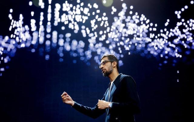 Sundar Pichai, CEO of Google at I/O 2017