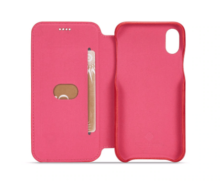 Flip Stand Leather Wallet Case Red Inside