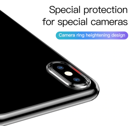 Camera Protection Soft Silicone Ultra Thin Transparent Case
