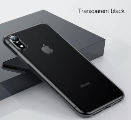 Black Soft Silicone Ultra Thin Transparent Case