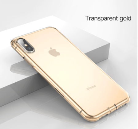 Gold Soft Silicone Ultra Thin Transparent Case
