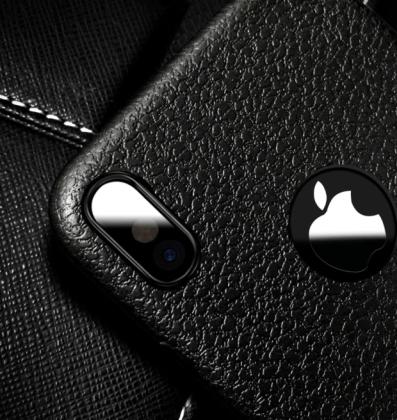 Ultra Thin Soft Leather Case Black Camera