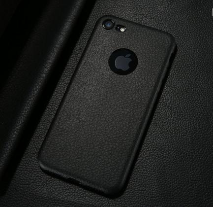 Black Ultra Thin Soft Leather Case