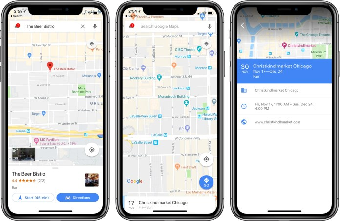 Google Maps on the iPhone X