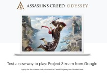 Assassins Creed Odyssey on Google Project Stream