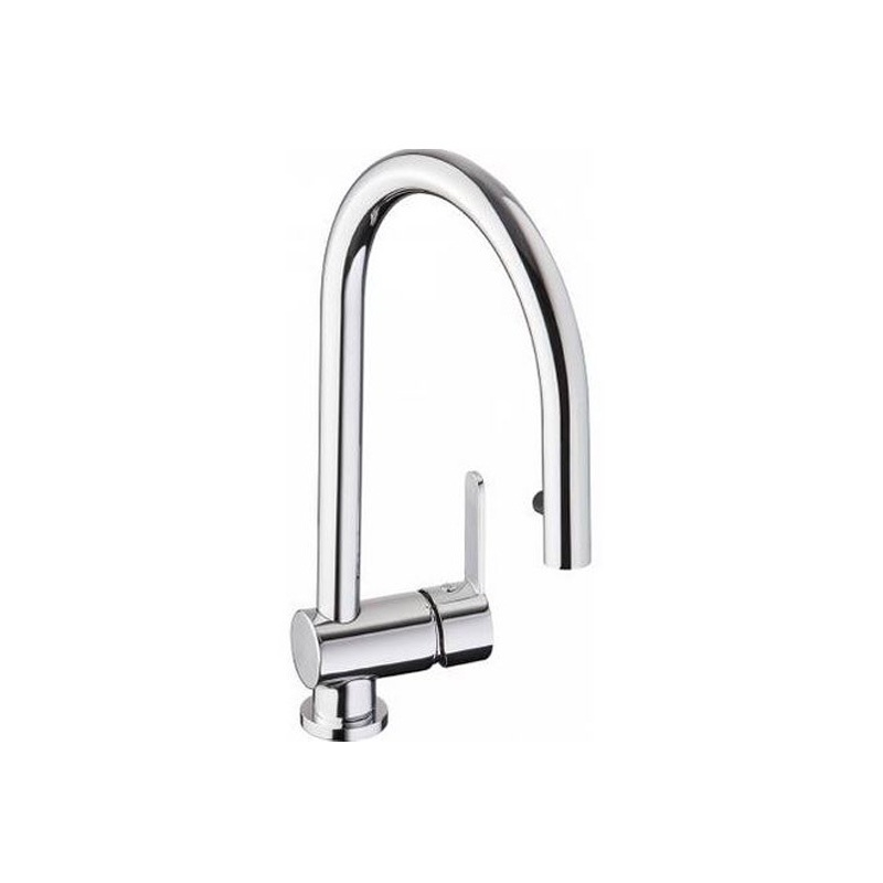 Abode Czar Single Lever Sink Mixer with Pull-Out Spray Chrome