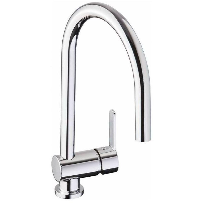 Abode Czar Single Lever Sink Mixer with Swan Neck Spout Chrome