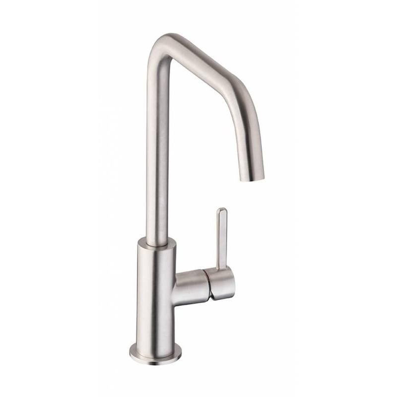 Abode Althia Single Lever Mono Sink Mixer Brushed Nickel