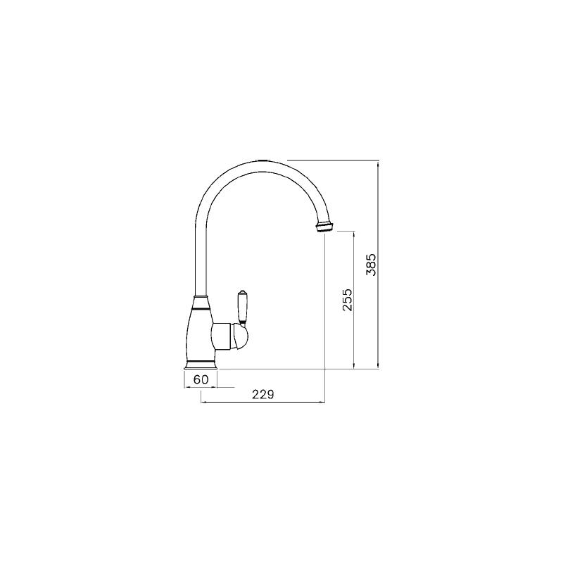 Abode Astbury Single Lever Mono Sink Mixer Pewter