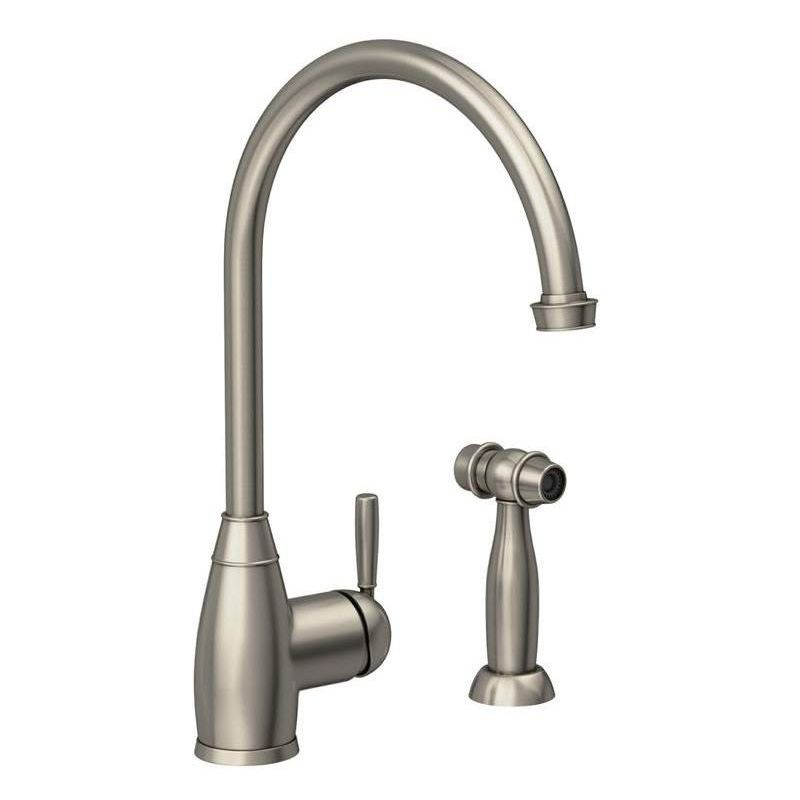 Abode Brompton Single Lever Sink Mixer with Handspray Pewter