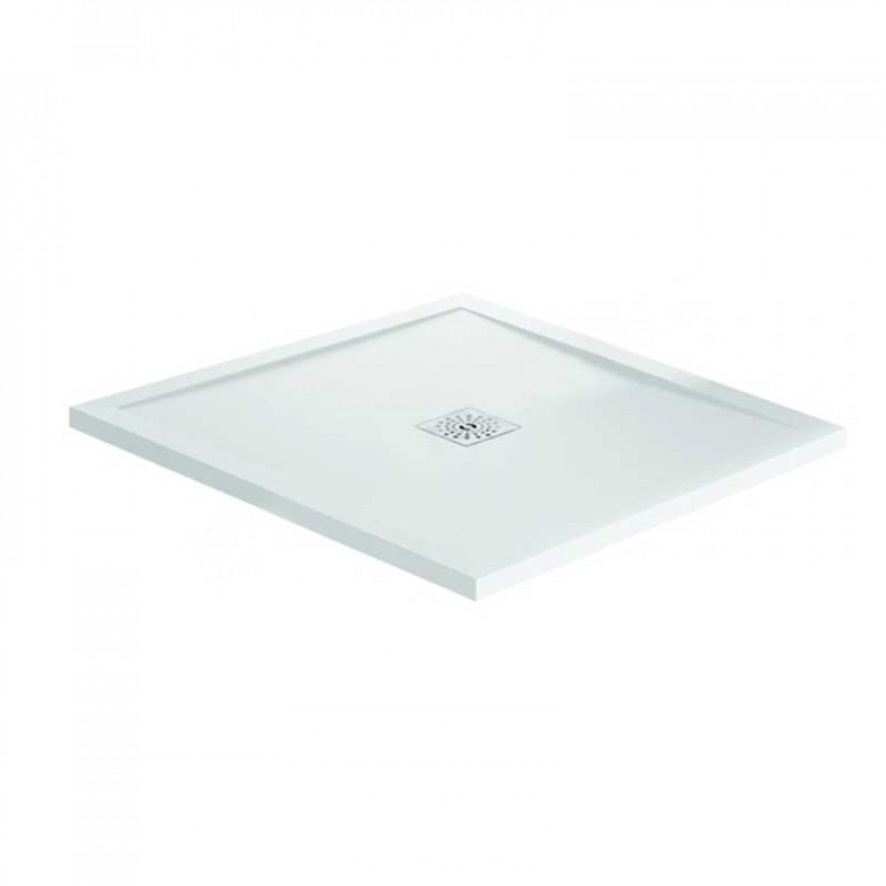 April Waifer Gloss White Shower Tray 760x760mm