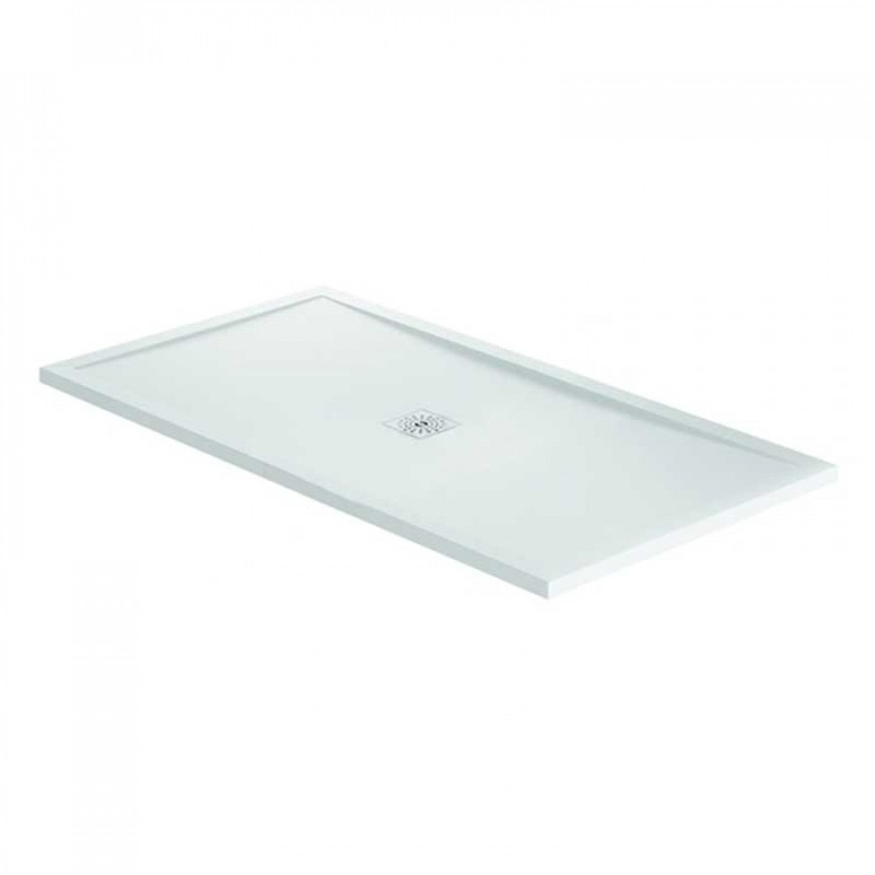 April Waifer Gloss White Shower Tray 1000x800mm