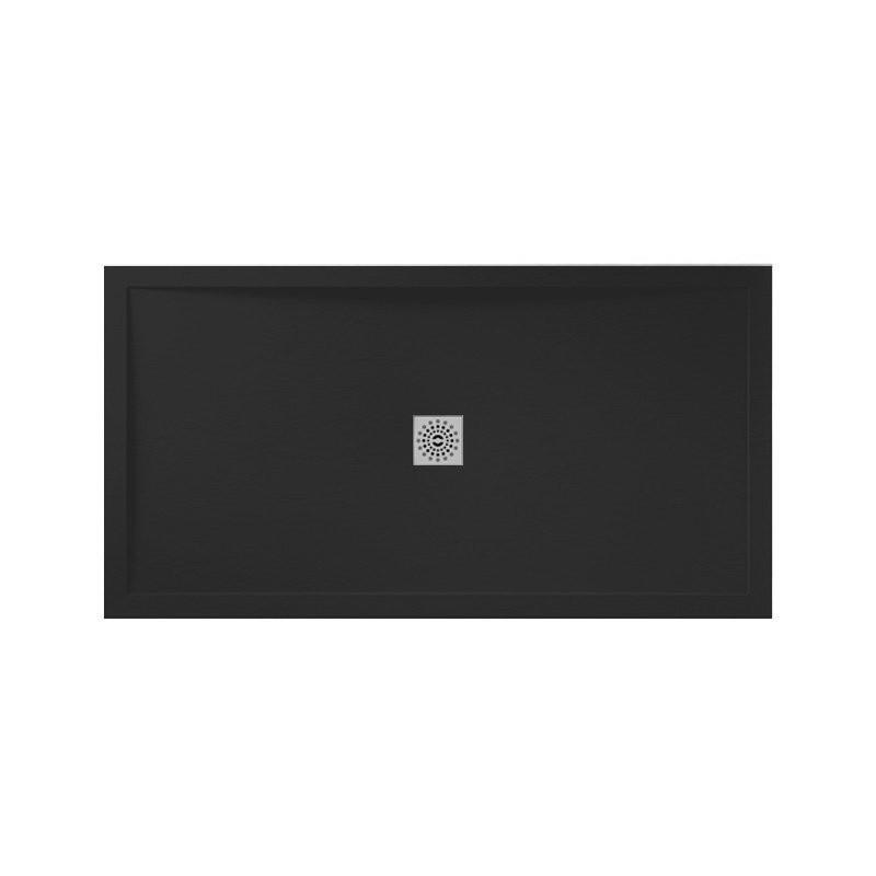 April Waifer Slate Effect Shower Tray 1600x900mm Black