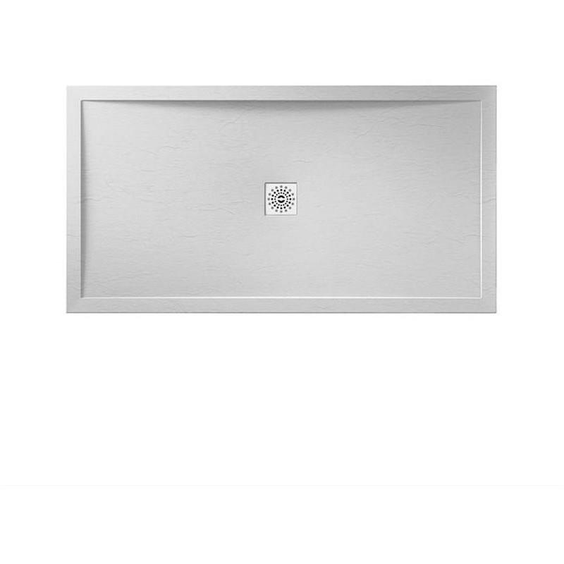 April Waifer Slate Effect Shower Tray 1700x800mm White