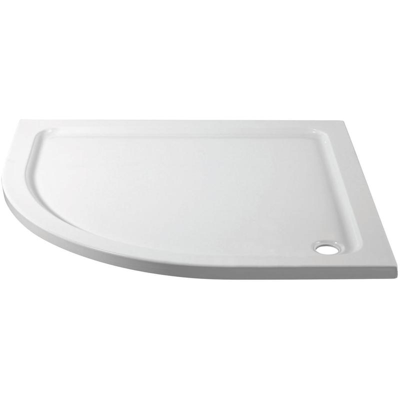 April 1000x800mm Offset Quadrant Shower Tray Left