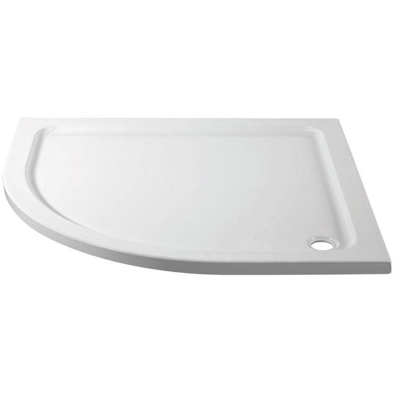 April 900x760mm Offset Quadrant Shower Tray Left