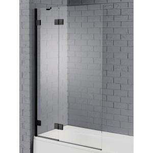 Aquadart Venturi 8 Hinged Bath Screen Black