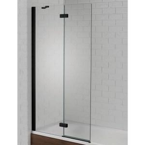 Aquadart Venturi 6 Hinged Bath Screen Black Left Hand