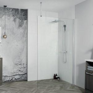 Aquadart 8 Wetroom Glass Panel 1600mm