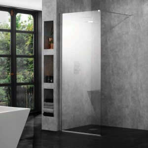 Aquadart 10mm 600mm Wetroom Panel Clear Glass