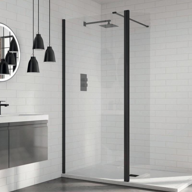 Aquadart 8 Wetroom Glass Panel 760mm Clear