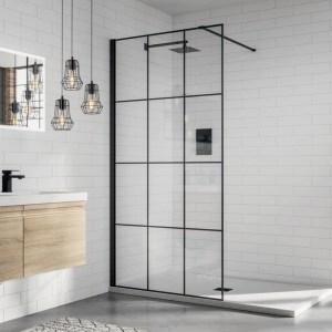 Aquadart 8 Wetroom Glass Panel 1000mm Matrix