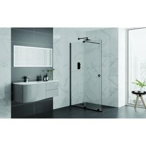 Aquadart Rolla 8 Sliding Wetroom Door 1400mm Matt Black