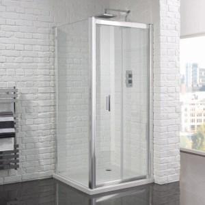 Aquadart Venturi 6 Frameless Bifold Shower Door 760mm